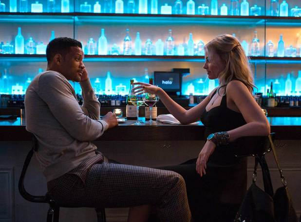 Will Smith and Margot Robbie in new crime comedy film, Focus. February 2015.