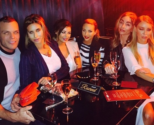 TOWIE Lydia Bright, Lauren Pope, Ferne McCann and Jessica Wright enjoy drinks in Soho, Instagram 26 February