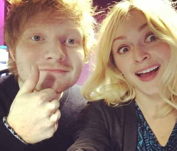 Fearne Cotton and Ed Sheeran in the Radio 1 Live Lounge, Instagram 24 February