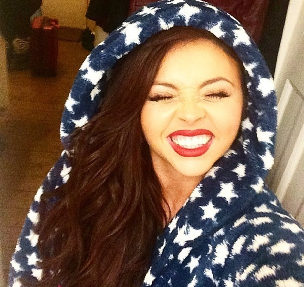 Jesy Nelson takes selfie in her onesie after the Brits 2015, Instagram 25 February
