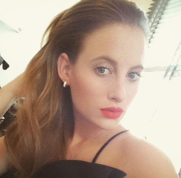Rosie Fortescue Instagram shot, 25/2/15, wearing NARS Red Square