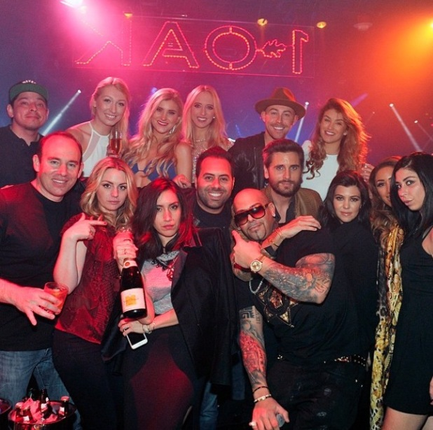 Amy Willerton parties with Kourtney Kardashian and Scott Disick at 1OAK in Las Vegas, 25 Feb 2015