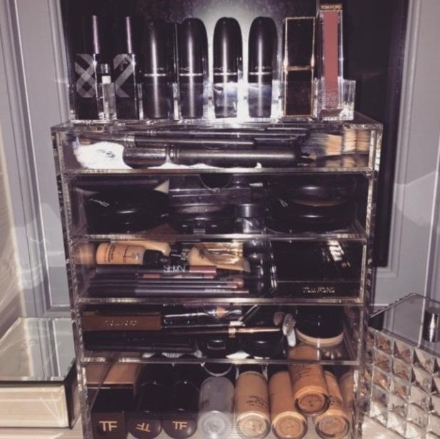 Lauren Goodger's make-up collection, Instagram, 25/2/15