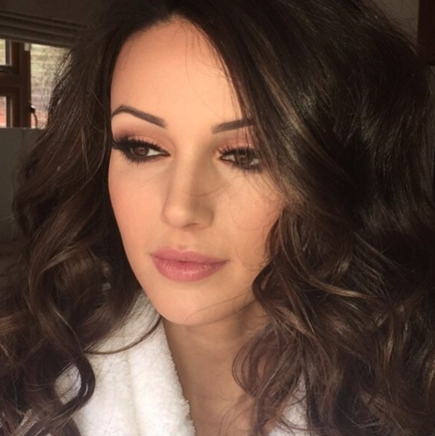 Michelle Keegan's BRITS Awards make-up, by Krystal Dawn, 25 February 2015