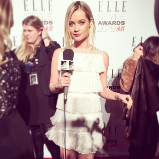 Laura Whitmore interviews celebs on the red carpet for MTV at the Elle Style Awards, 24 February 2015