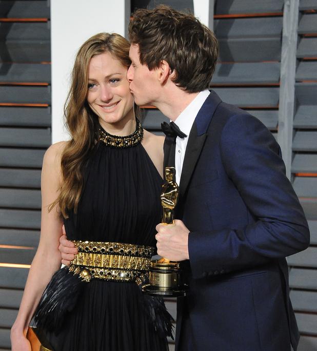 Eddie Redmayne and wife Hannah Bagshawe attend Vanity Fair Oscar Party, Hollywood, LA 22 February