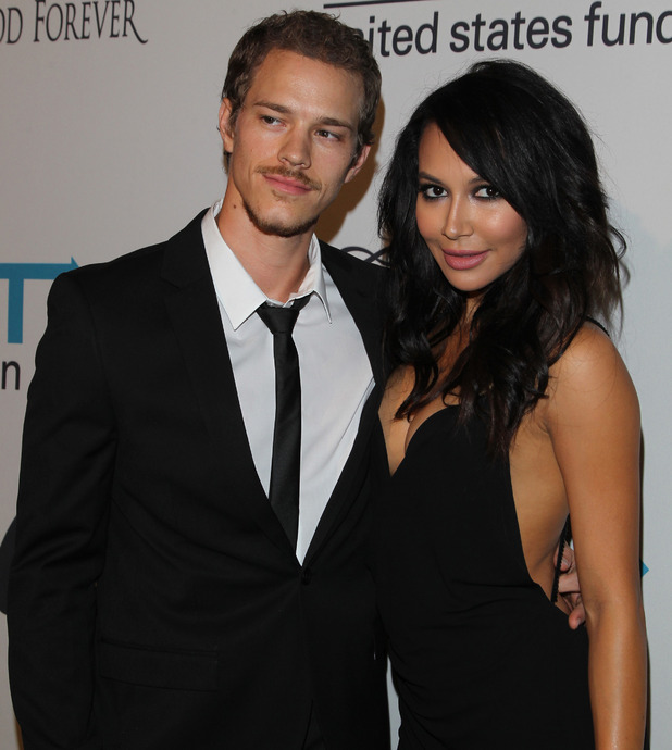 Naya Rivera and Ryan Dorsey at the Next Generation's 2nd Annual UNICEF Masquerade Ball, LA, 31 Oct 2014