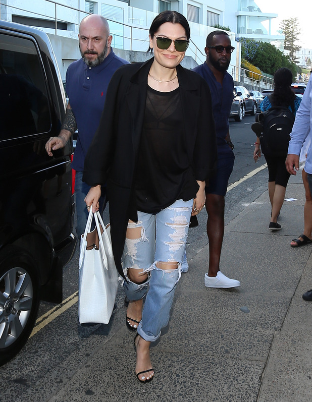 Jessie J heads out after filming for The Voice Australia, Sydney 22 February