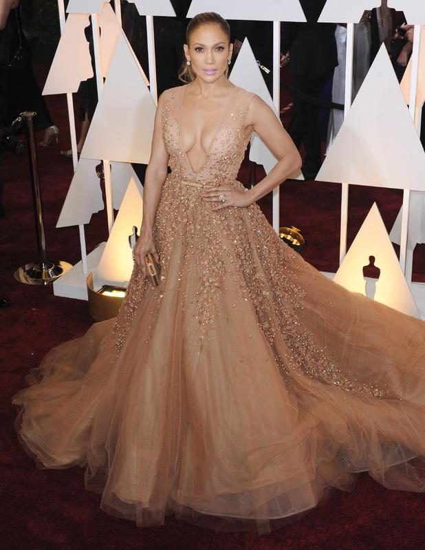 Jennifer Lopez attends the Oscars, Dolby Theatre, Hollywood, LA 22 February