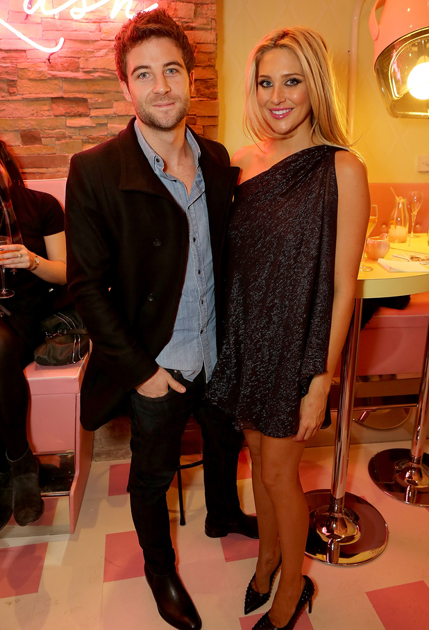 Stephanie Pratt and Josh Shepherd attend Curl's Best Friend' Pop-Up Curl And Cocktail Parlour By Benefit Cosmetics, London 26 February