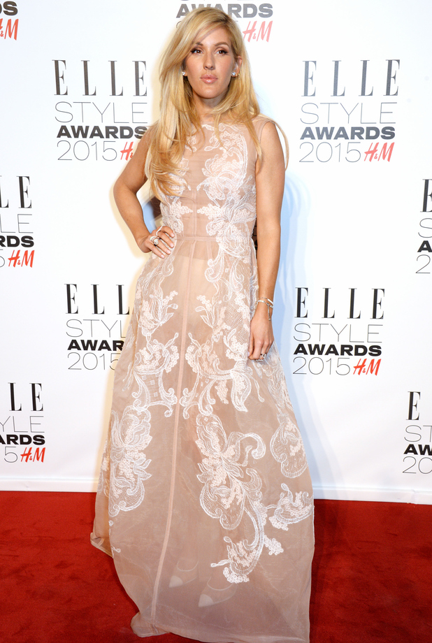 Ellie Goulding attends the Elle Style awards held at the Sky Garden, Walkie Talkie building, London 24 February