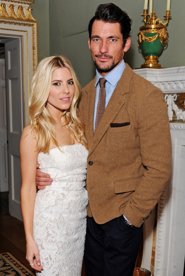 David Gandy and Mollie King attend the Creative London party hosted by the British Fashion Council and BPI at Spencer House on February 23, 2015 in London, England.