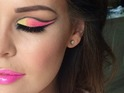 Jessica Wright shows off her full-moon party make-up, courtesy of Krystal Dawn, 25 February 2015