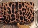 Khloe Kardashian's YSL leopard print bag