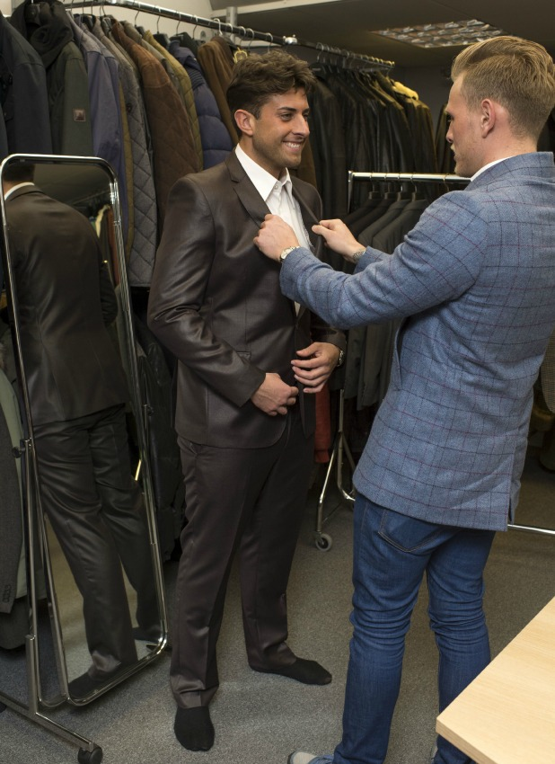 James Argent with Tommy Mallet as he returns to filming TOWIE 24 Feb 2015