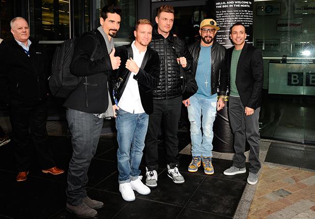 Backstreet Boys at BBC Breakfast, Media City, Salford Quays, Manchester, Britain - 24 Feb 2015