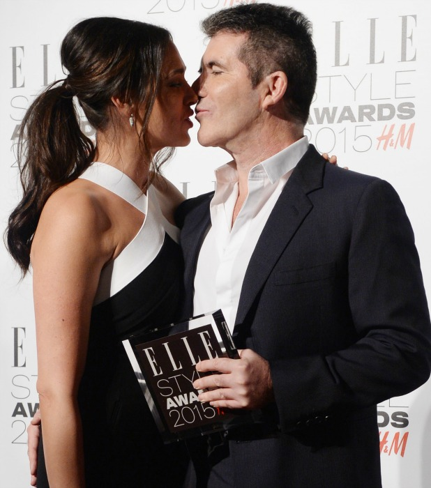 Simon Cowell, Lauren Silverman. Elle Style Awards 2015 at Sky Garden @ The Walkie Talkie Tower - Arrivals, 24 February 2015