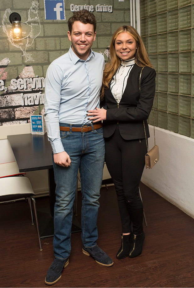 'The Only Way is Essex' live show, Pinewood, Bucks, Britain - 22 Feb 2015 James Bennewith and Francesca Parman