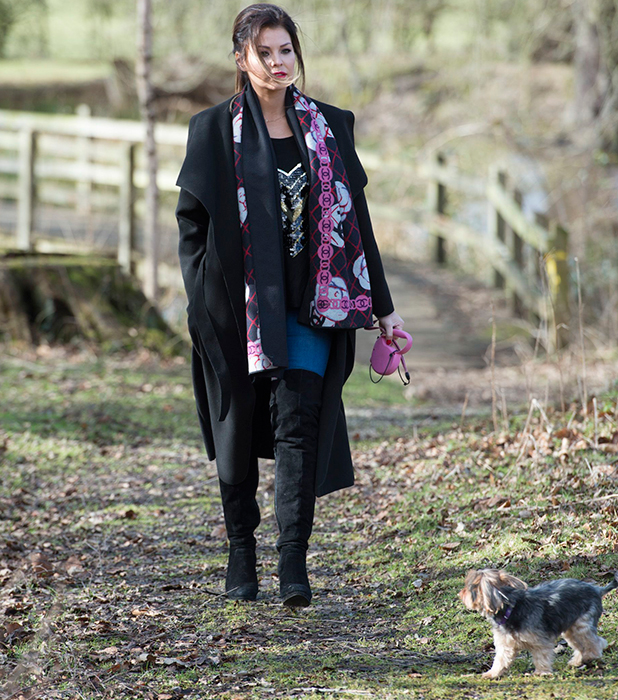 TOWIE filming at Weald Park, Essex, Britain - 24 Feb 2015 Jessica Wright
