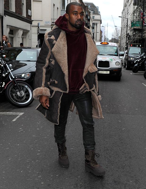Kanye West visits Dover Street Market in Mayfair, 22 February 2015