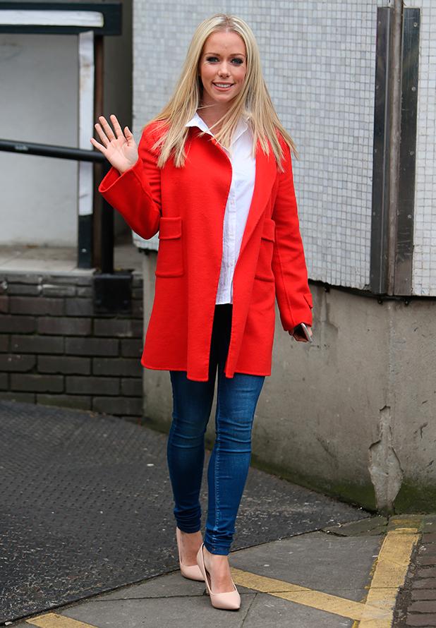 Kendra Wilkinson outside ITV Studios, 24 February 2015