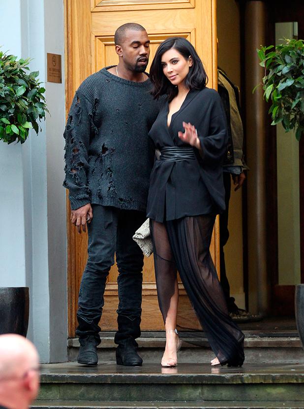 Kim Kardashian and Kanye West at Abbey Road Studios 26 Feb 2015