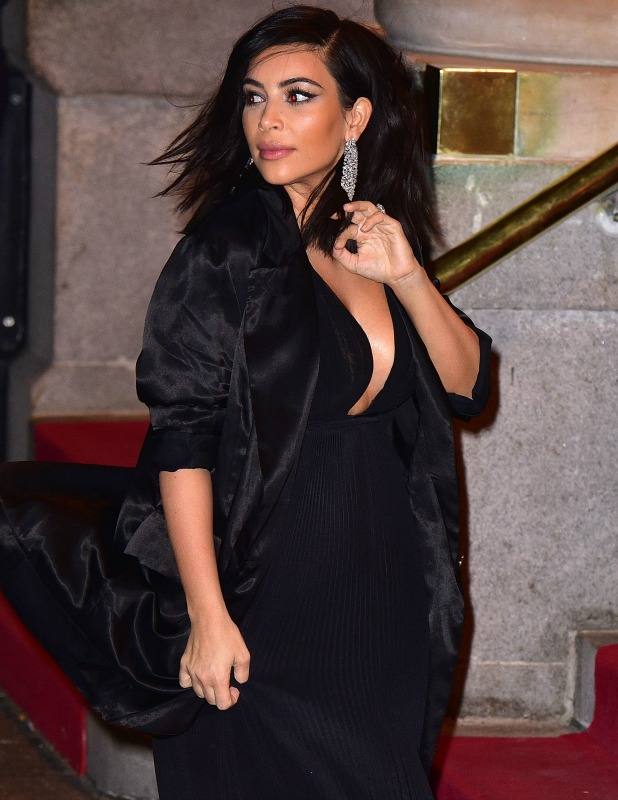 Kim Kardashian arrives to Saturday Night Live 40th Anniversary Celebration after party at The Plaza Hotel on February 15, 2015 in New York City.