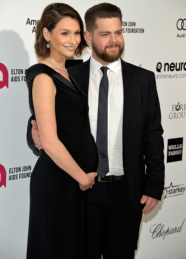 Jack Osbourne and Lisa Stelly attend the 23rd Annual Elton John AIDS Foundation Academy Awards Viewing Party on February 22, 2015 in Los Angeles, California.
