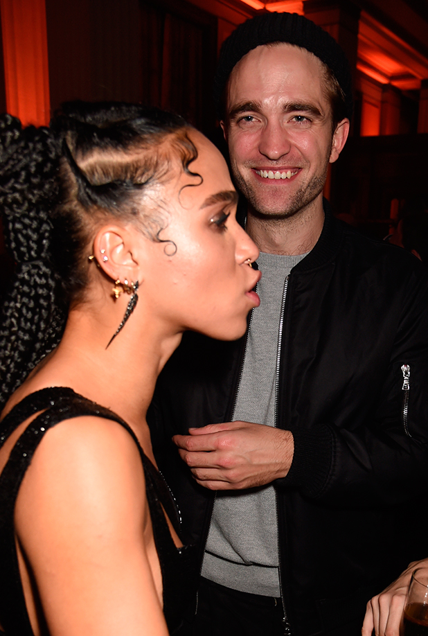 The Brit Awards Warner Music Group After Party, London, Britain - 25 Feb 2015 FKA Twigs and Robert Pattinson