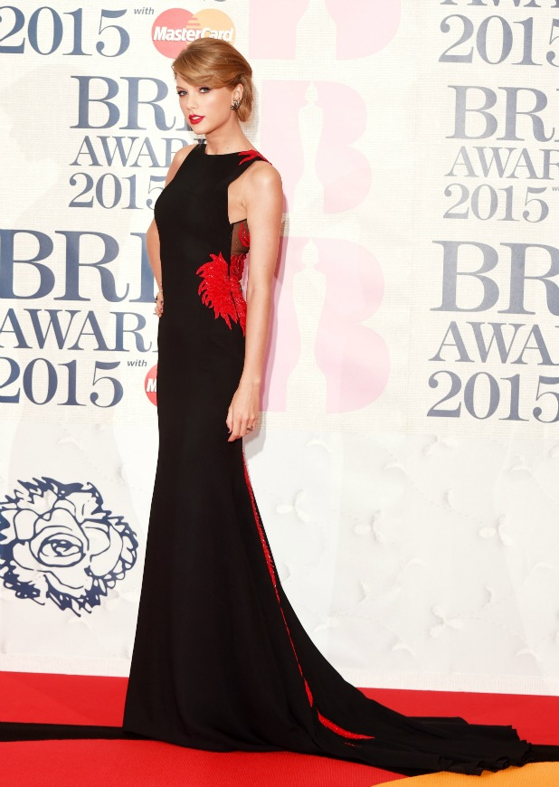 The Brit Awards, Arrivals, O2 Arena, London, Britain - 25 Feb 2015 Taylor Swift