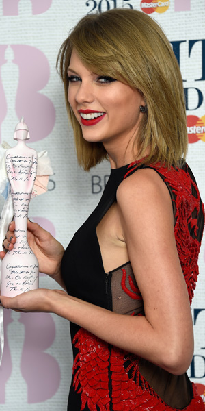 Taylor Swift at BRIT Awards at 25 February 2015