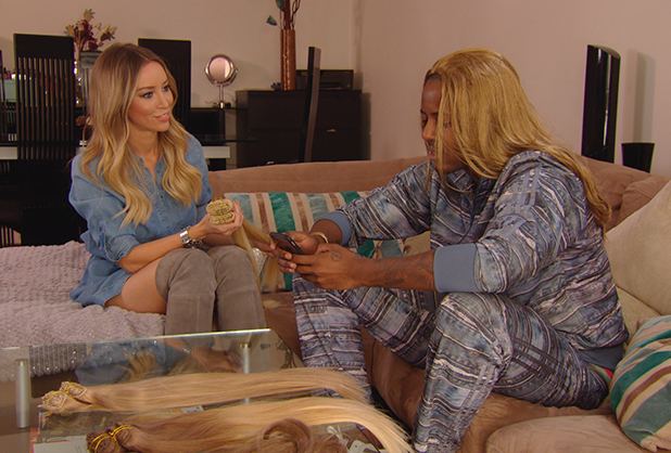 TOWIE publicity still for 25 February 2015 episode: Lauren and Vas