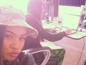 X Factor's Tamera Foster hits the recording studio in Los Angeles