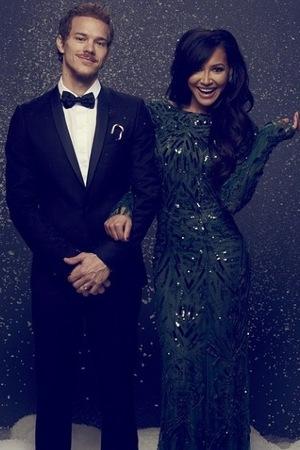 Glee's Naya Rivera and husband Ryan Dorsey's Christmas greeting - 19 December 2014.
