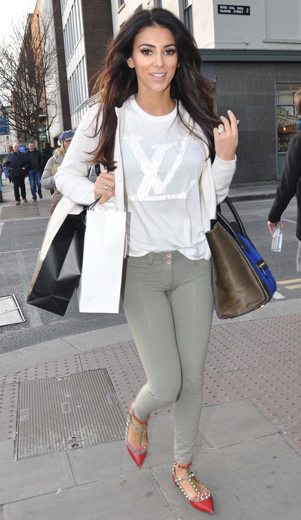 Georgia Salpa pictured shopping in Dublin, Ireland 4 March