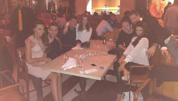 Katie Price and Kieran Hayler enjoy night out with pals including Dean Gaffney, Rav Wilding and Michelle Heaton, 6 March 2015