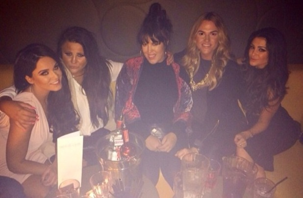 Vicky Pattison, Casey Batchelor and friends in Manchester, Instagram 5 March