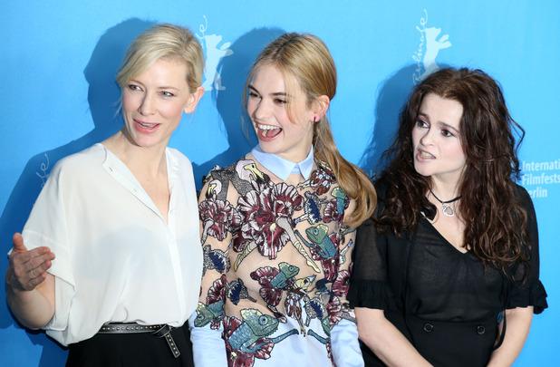 Cate Blanchett, Lily James and Helena Bonham Carter at the Berlin International film festival - 13/02/15