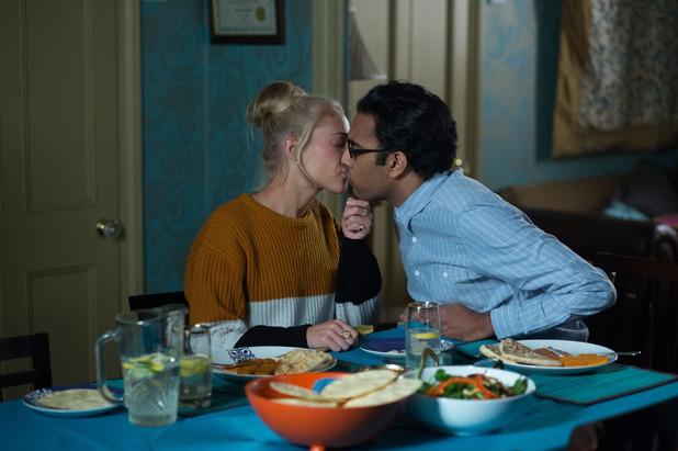 EastEnders, Nancy kisses Tamwar, Thu 12 Mar