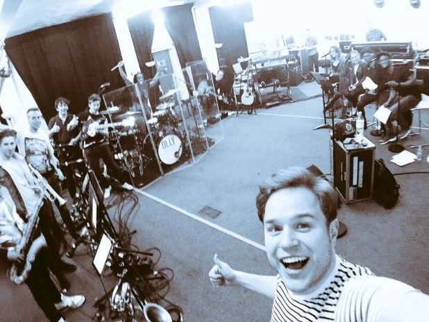 Olly Murs starts rehearsing for his Never Been Better tour - 2 March 2015