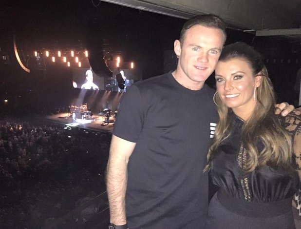 Coleen Rooney and husband Wayne attend Lionel Richie concert at Manchester Arena - 28 Feb 2015