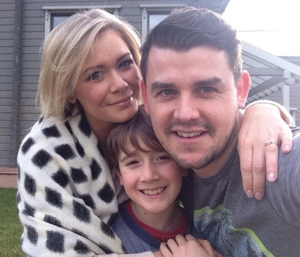 Suzanne Shaw with fiance Sam Greenfield and son Corey