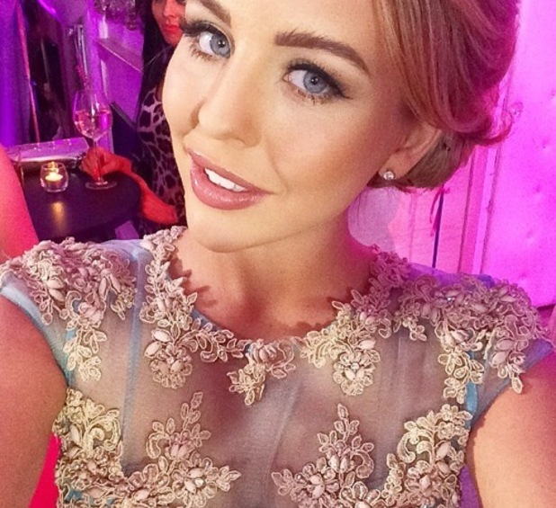 Lydia Bright takes selfie on set of TOWIE filming, Instagram 4 March