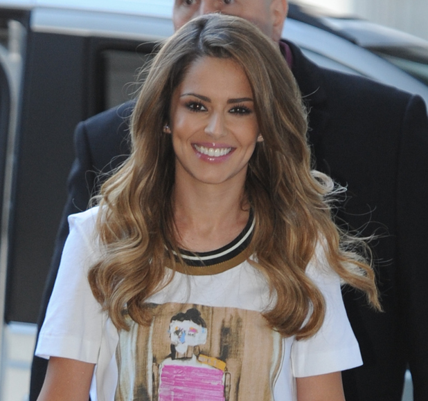 Cheryl Cole and her X factor girls at BBC Radio 1 Studios in London, 7 October 2015