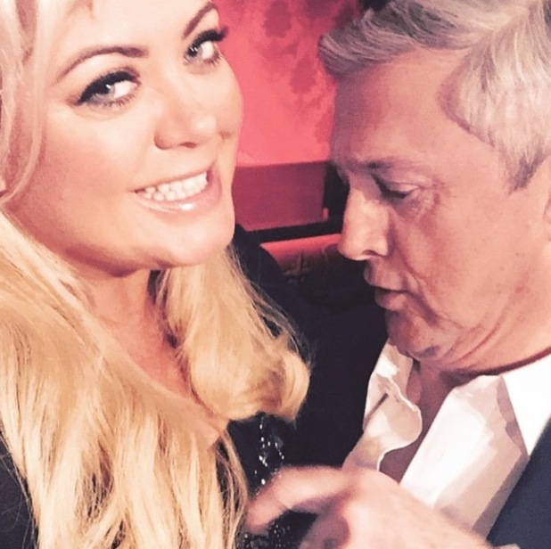 Gemma Collins and Louis Walsh at ITV - 6 March 2015