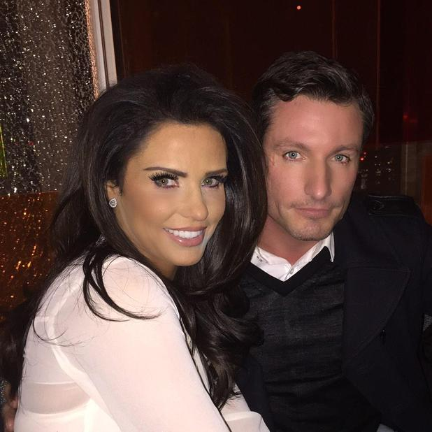 Katie Price and old pal Dean Gaffney pose for pictures on night out, 6 March 2015