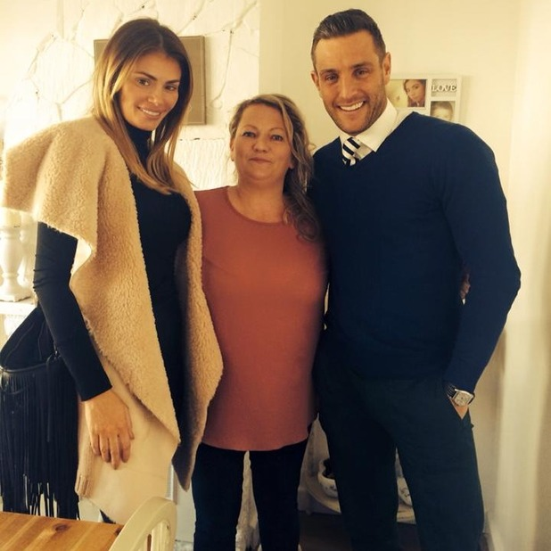 Psychic Sally Cudmore after giving Elliott Wright and Chloe Sims a psychic reading, 2 March 2015