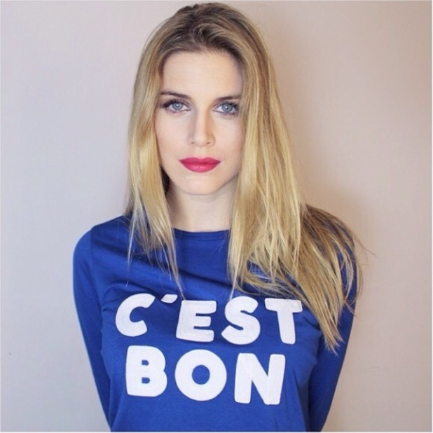 Ashley James shares a snap of her in a super-sweet slogan tee from M&S.