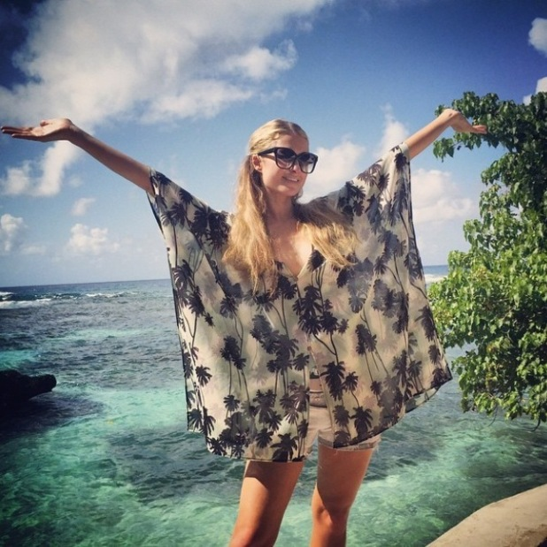 Paris Hilton shares holiday pictures from a secret island - 2 March 2015