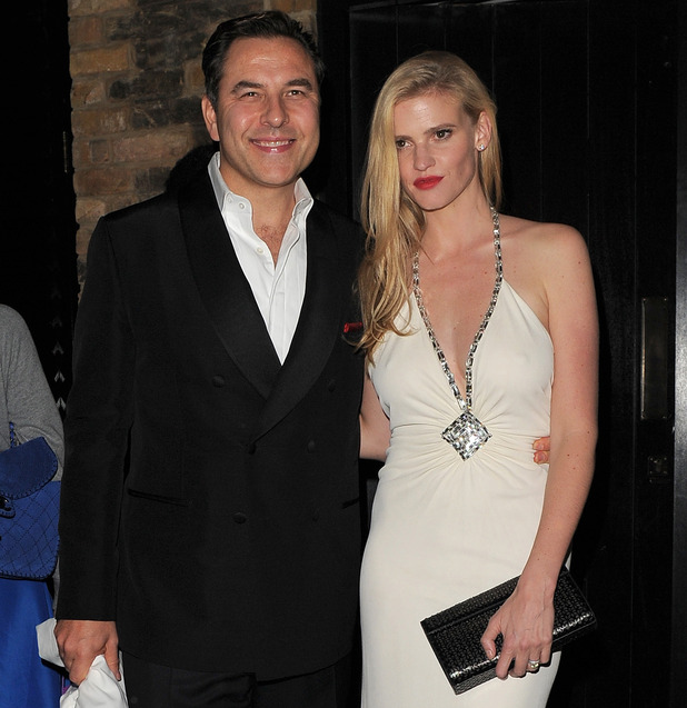 David Walliams and Lara Stone at Mario Testino 60th Birthday Bash at the Chiltern Firehouse restaurant - 29 Oct 2014
